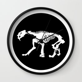 Saber toothed tiger skeleton Wall Clock