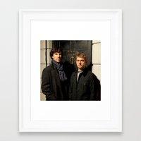 johnlock Framed Art Prints featuring Johnlock by Amélie Store