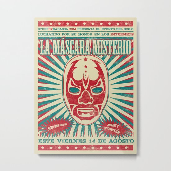 The Mysterious Mask Metal Print
