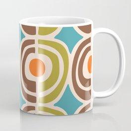 Mid Century Modern Solar Flares Pattern Coffee Mug