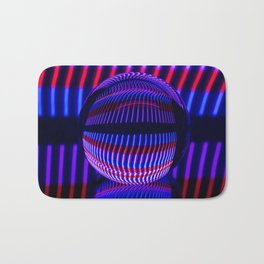 Red and Blue in the glass ball Bath Mat