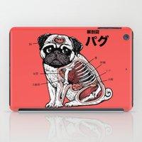 anatomy iPad Cases featuring Pug Anatomy by Huebucket