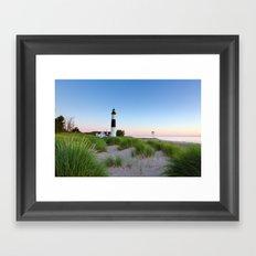 Big Sable Point Lighthouse - Ludington Michigan Framed Art Print