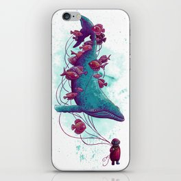 Whale Balloons iPhone Skin