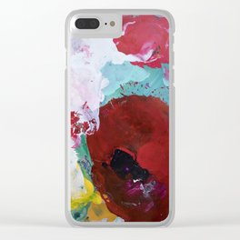 The Artist's Remains #3 (Poppy Abstract) Clear iPhone Case