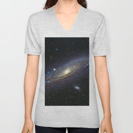 The Andromeda Galaxy Unisex V-Neck
