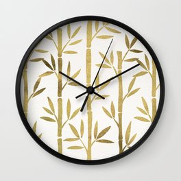 Bamboo Stems – Gold Palette Wall Clock