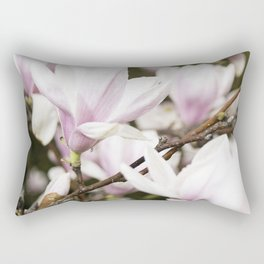 Beautiful Pink Blossoms Greet the Day Rectangular Pillow