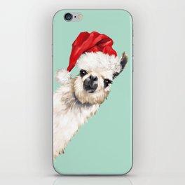 Christmas Sneaky Llama iPhone Skin