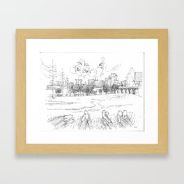 Trinity Bank with friends Framed Art Print