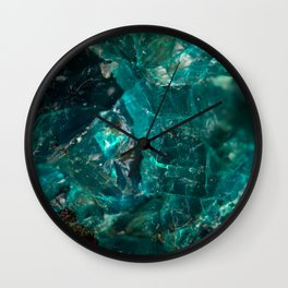 Cracked Teal Sugar Wall Clock