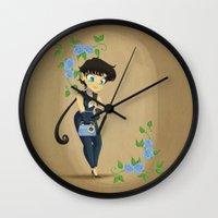transistor Wall Clocks featuring Retro Sailor Star Fighter by Crimson Pumpkin