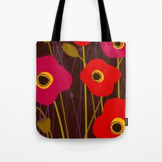 Red Poppy Flowers by Friztin Tote Bag