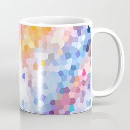 Starfall.Abstract mosaic stained glass design with stars Coffee Mug