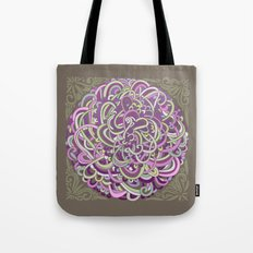 Detailed circlecorner, purple olive  Tote Bag