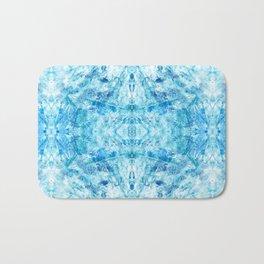Crystal Stone - In Teal Aqua & Blue Bath Mat