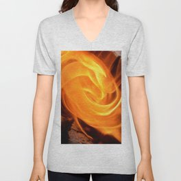 swirling flame Unisex V-Neck