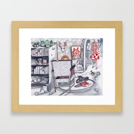 Never a Dull Moment Framed Art Print
