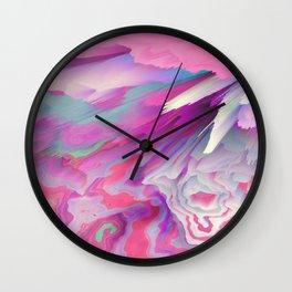 Loud Silence Glitched Fluid Art Wall Clock