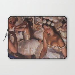 Ballerina & Ballerinas In The Dressing Room oil on canvas portrait painting by Zinaida Serebriakova Laptop Sleeve