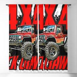 grafitti Offroad 4x4 Crawling rock crawler truck car Blackout Curtain