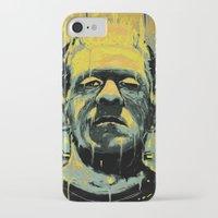 frankenstein iPhone & iPod Cases featuring Frankenstein by nicebleed