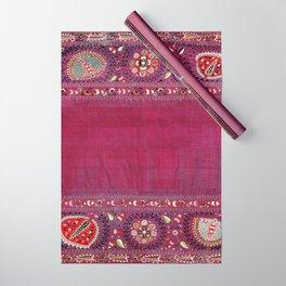 Shakhrisyabz  Southwest Uzbekistan Suzani Embroidery Print Wrapping Paper