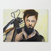daryl Canvas Prints featuring Daryl by Brittany Ketcham