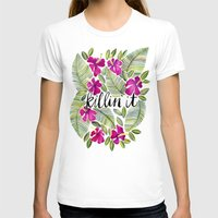 tropical T-shirts featuring Killin' It – Tropical Pink by Cat Coquillette