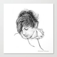 louis tomlinson Canvas Prints featuring Louis Tomlinson by Daisied Dream