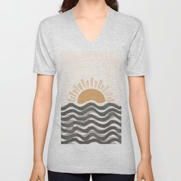 Waft Sun-Grey Unisex V-Neck