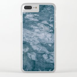 Sharp Blue Terrain Clear iPhone Case