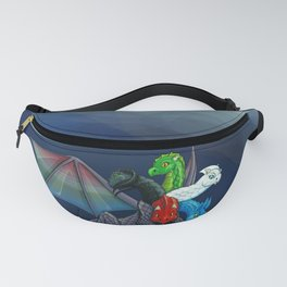 Tiamat the Five-Headed Dragon Fanny Pack