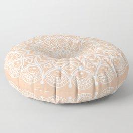 Elegant Peach Mandala Floor Pillow