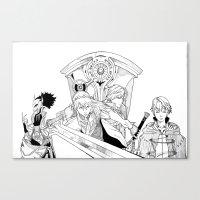 fire emblem Canvas Prints featuring Fire Emblem Awakening Ink  by TheGiz