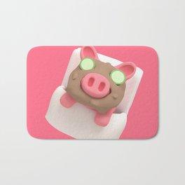 Rosa the Pig does Mud Bath Bath Mat