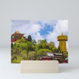 Giant tibetan prayer wheel Mini Art Print