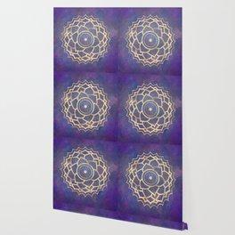 Mandala Chakra Copper and Purple Crown Chakra Wallpaper