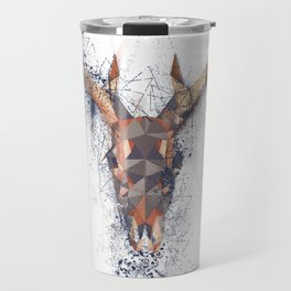 Deer skull, modern, deconstruction Travel Mug