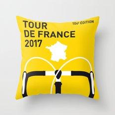 MY TOUR DE FRANCE MINIMAL POSTER 2017 Throw Pillow