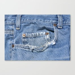 Old Jeans Canvas Print