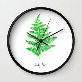 Lady fern Wall Clock