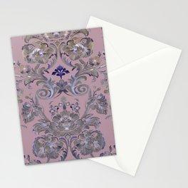 Painted Tibetan Brocade Mauve Stationery Cards