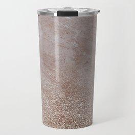Beige shimmer marble gradient Travel Mug