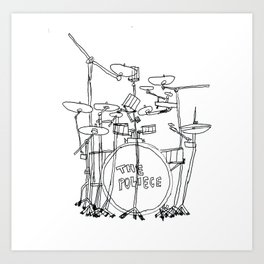 The Police Drums Art Print