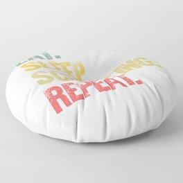 Eat Sleep Repeat Shirt Eat Sleep Sculpting Repeat Funny Gift Floor Pillow