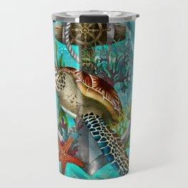 Turtle and Sea Travel Mug