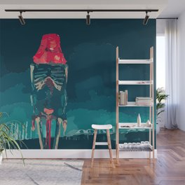 Skeleton lights, gothic art, modern wall art Wall Mural