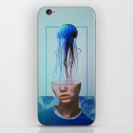 Jellyfish blue. iPhone Skin