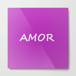 Amor, Spanish Love Metal Print